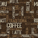 Nahtloses Kaffeeerfahrungsmuster. Lizenzfreie Stockbilder