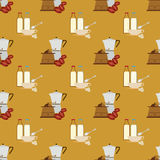 Nahtloses Kaffeemuster Stockfotos