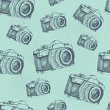 Nahtloses Kameramuster Lizenzfreies Stockfoto