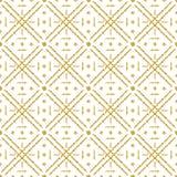 Nahtloses Karomuster mit goldener funkelnder Linie Goldkariertes Muster Wiederholbares Design Kann für Gewebe, Schrott verwendet  stock abbildung