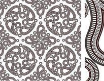 Nahtloses Kaschmirmuster Stockbilder