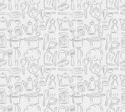 Nahtloses kochendes Muster Lizenzfreie Stockbilder