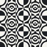 Nahtloses Kreis-und Quadrat-Muster Lizenzfreie Stockfotos