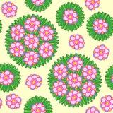 Nahtloses Kreisblumenmuster lizenzfreie abbildung