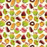 Nahtloses Kuchenmuster Lizenzfreie Stockbilder