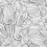 Nahtloses Kurvenmuster des Vektors. Schwarzweiss stock abbildung