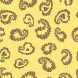 Nahtloses Laubmuster Sich wiederholender netter Vektorhintergrund von L Lizenzfreie Stockbilder