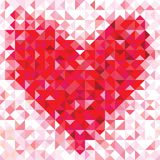 Nahtloses Liebesmuster des geometrischen Herzens Lizenzfreie Stockbilder