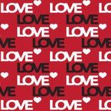 Nahtloses Liebesmuster für Liebeskarten und Valentinsgrußkarten Vektor Stockbilder