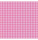 Nahtloses Liebesmuster Rosa Herzen und Weißsterne auf Rosa Stockfotografie