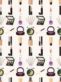 Nahtloses Make-upmuster Lizenzfreie Stockbilder