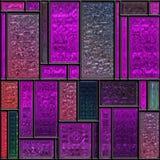 Nahtloses malvenfarbenes strukturiertes Buntglaspanel lizenzfreie abbildung