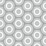 Nahtloses Mandalamuster stockbilder