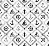 Nahtloses Marinemuster Passend für Tapete, Papier, Dekoration vektor abbildung