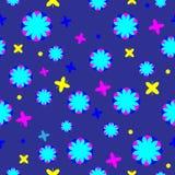 Nahtloses mehrfarbiges Muster auf einem dunklen Hintergrund vektor abbildung