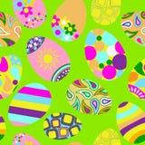 Nahtloses mehrfarbiges Muster von Ostereiern vektor abbildung