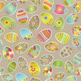 Nahtloses mehrfarbiges Muster von Papier Ostereiern stock abbildung