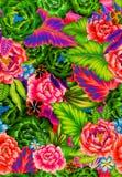 Nahtloses mexikanisches mit Blumenmuster Lizenzfreie Stockfotografie
