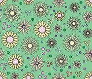 Nahtloses mit Blumenbckground Stockbild