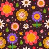 Nahtloses mit Blumenmuster. Stockfoto