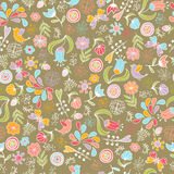 Nahtloses mit Blumenmuster Stockfoto