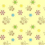 Nahtloses mit Blumenmuster Stock Abbildung