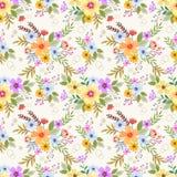 Nahtloses mit Blumenmuster mit Blumen und Blättern stock abbildung