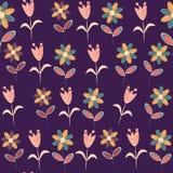 Nahtloses mit Blumenmuster in den Weinlesefarben und nahtlos Stockbilder