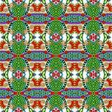 Nahtloses mit Blumenmuster der Geometrieweinlese Stockbild