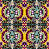 Nahtloses mit Blumenmuster der Geometrieweinlese Stockfotos