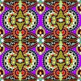 Nahtloses mit Blumenmuster der Geometrieweinlese Lizenzfreie Stockfotografie