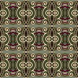 Nahtloses mit Blumenmuster der Geometrieweinlese Stockbilder