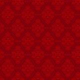 Nahtloses mit Blumenmuster in der roten Farbe Stockfoto