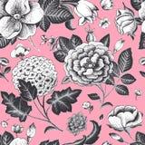 Nahtloses mit Blumenmuster der schönen Weinlese. Lizenzfreies Stockbild