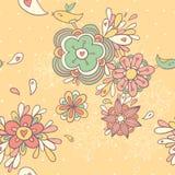 Nahtloses mit Blumenmuster der Weinlese Lizenzfreies Stockbild