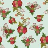 Nahtloses mit Blumenmuster der Weinlese - Illustration Stockbild