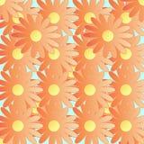 Nahtloses mit Blumenmuster des abstrakten Vektors Lizenzfreies Stockfoto