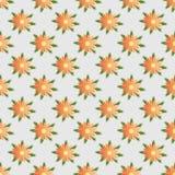 Nahtloses mit Blumenmuster des abstrakten Vektors Stockfotos