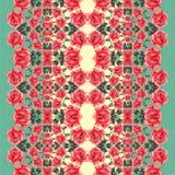 Nahtloses mit Blumenmuster (Rosen) Lizenzfreies Stockfoto
