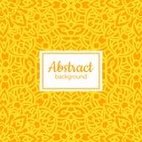 Nahtloses mit Blumenmuster des ethnischen Vektors mit gelber Mandala Stockfotografie