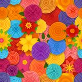 Nahtloses mit Blumenmuster des Frühlinges Stockfotos
