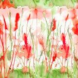 Nahtloses mit Blumenmuster des glücklichen und hellen Sommers mit der Hand gezeichnet Stockfotos