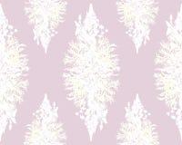 Nahtloses mit Blumenmuster des stilisierten Rahmens - Blumenstrauß für Einladung Lizenzfreie Stockfotografie