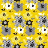 Nahtloses mit Blumenmuster des tropischen Sommerkonzeptes Stockfoto