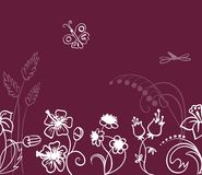 Nahtloses mit Blumenmuster des Vektors Stockbild