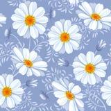 Nahtloses mit Blumenmuster - Gänseblümchen Lizenzfreies Stockbild
