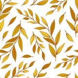 Nahtloses mit Blumenmuster Herbstbl?tter und -zweige vektor abbildung