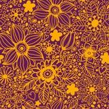 Nahtlose Beschaffenheit mit Blumen Stockfoto