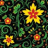 Nahtloses mit Blumenmuster. Khokhloma Stockfotografie