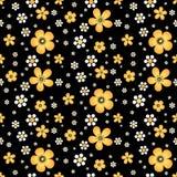 Nahtloses mit Blumenmuster in Khokhloma-Art Lizenzfreies Stockbild
